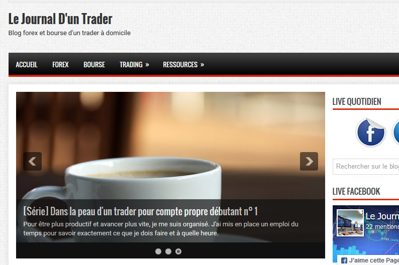 blog forex journal d'un trader